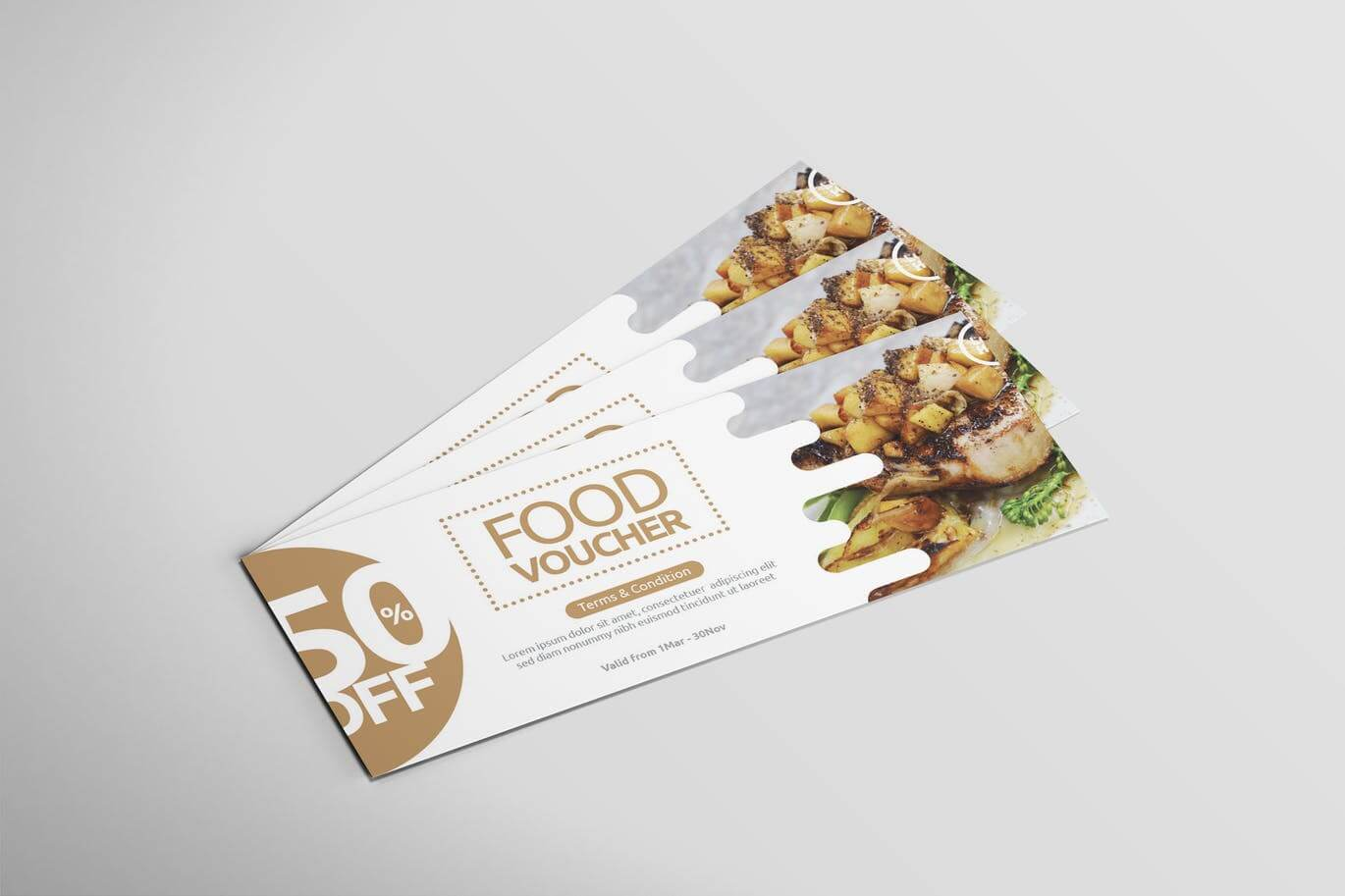 Restaurant Food - Voucher Design1