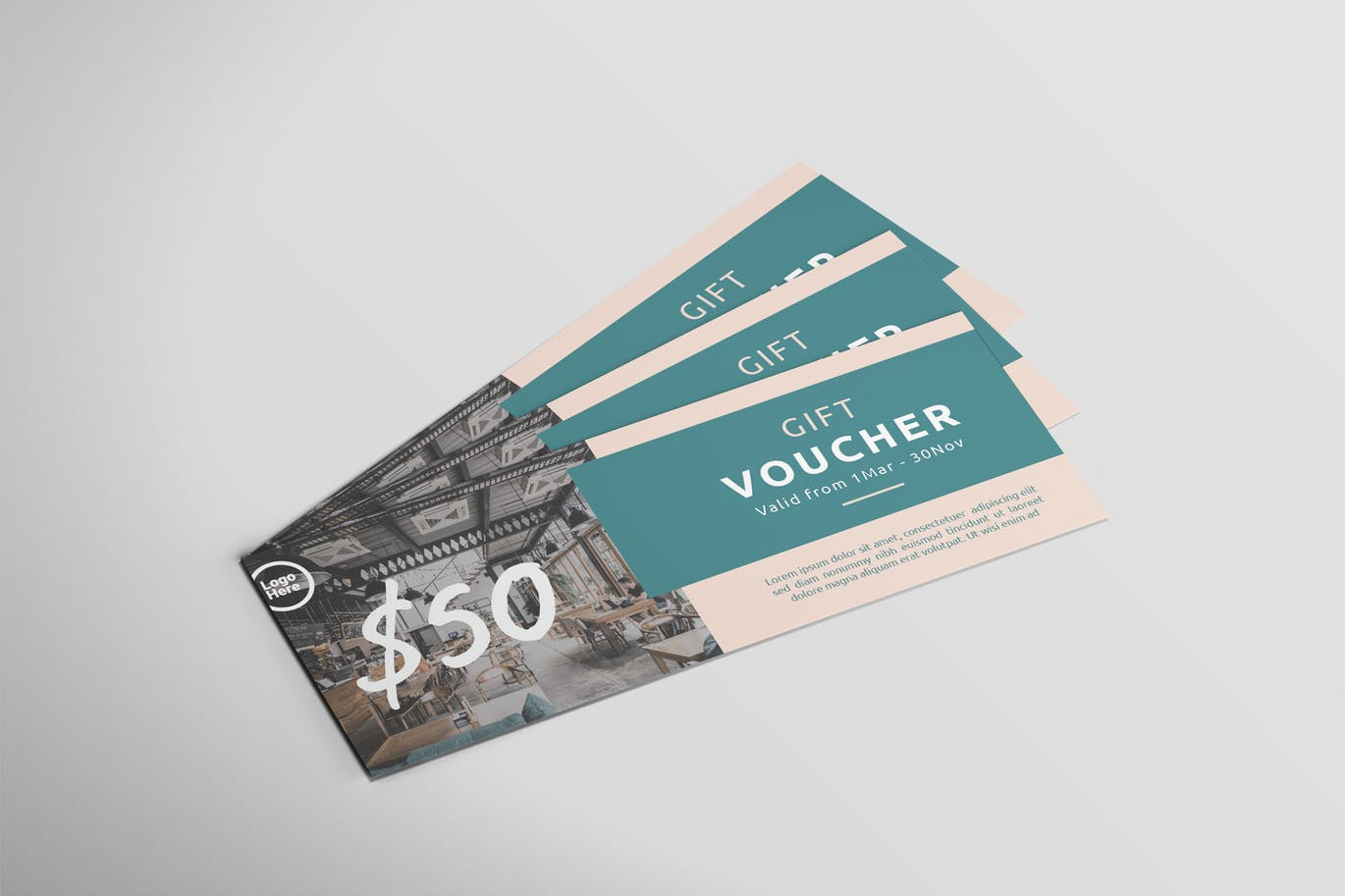 Restaurant Gift Card - Voucher Design