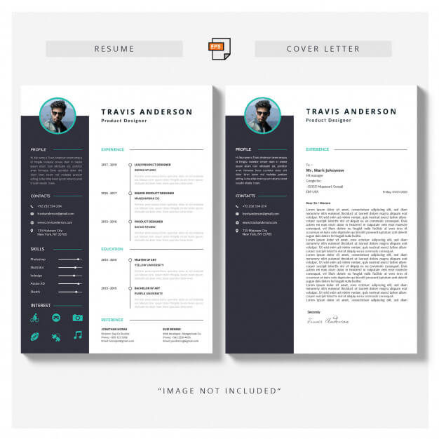 Resume and cover letter Free Vector