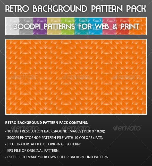 Retro Background Pattern Pack