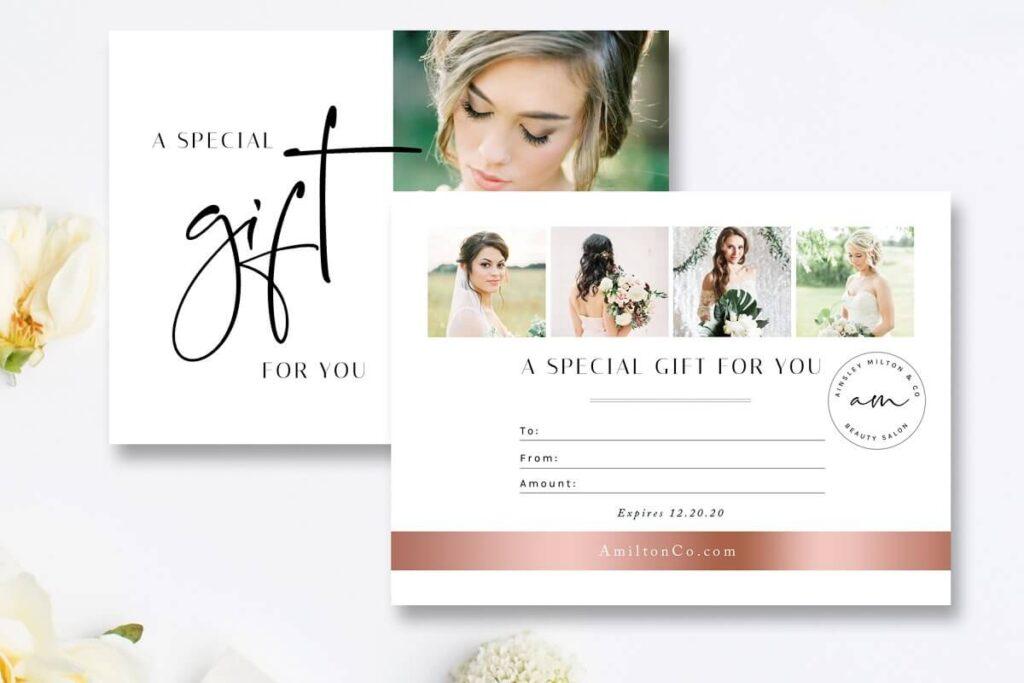 Salon Gift Card Template1