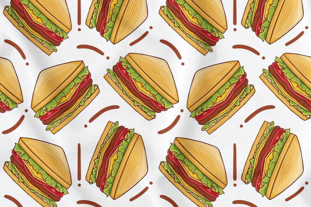 Sandwich Seamless Pattern