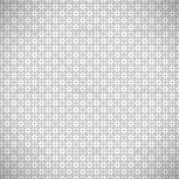 Seamless Grey Retro Pattern Background