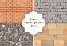 Seamless stone patterns