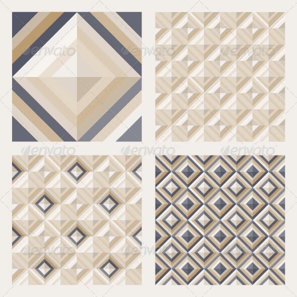 Set of Floor Tiles Patterns