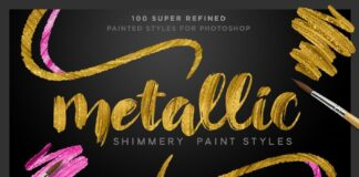 Shimmery Gold Styles for Photoshop