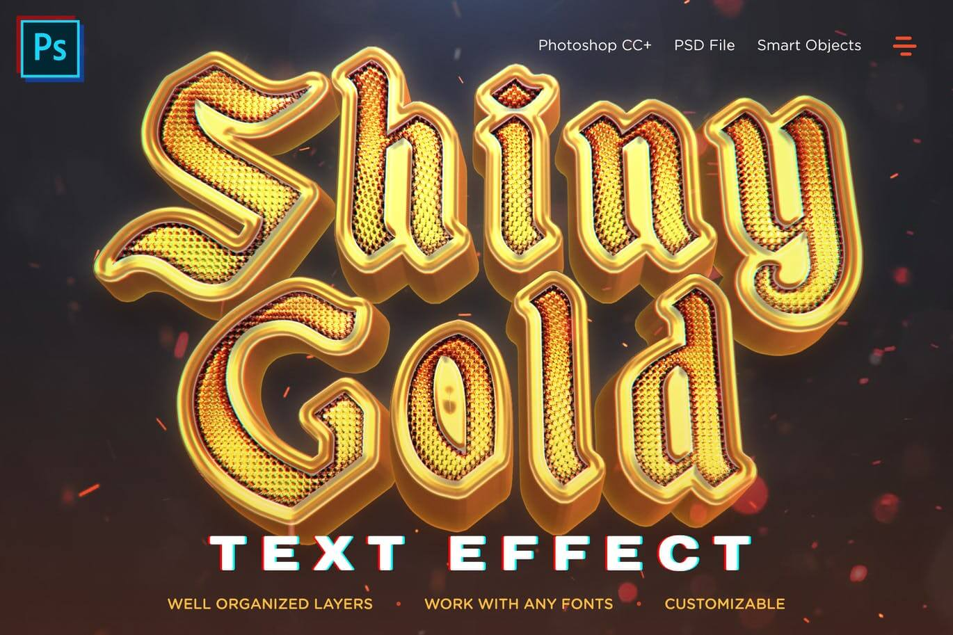 Shiny Gold Realistic 3D Text Effects (1)