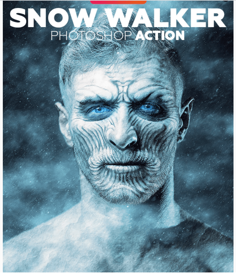 Snow Walker Animated Photoshop Action