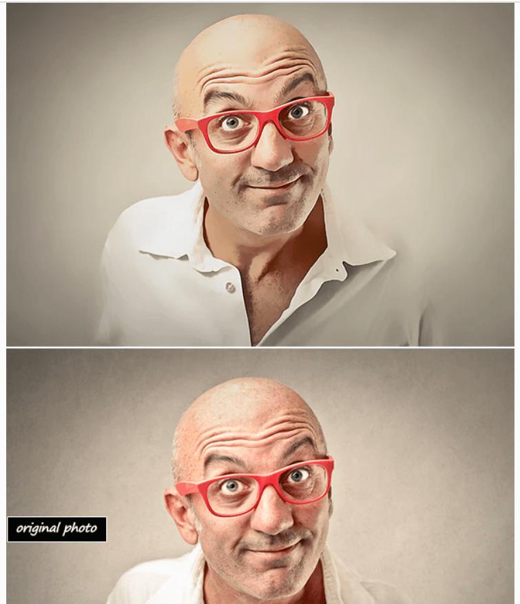 Soft Cartoon Paint-Photoshop Action