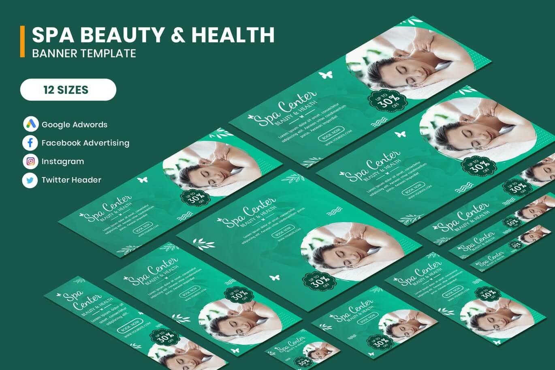 Spa Beauty & Health Google AD Template (1)