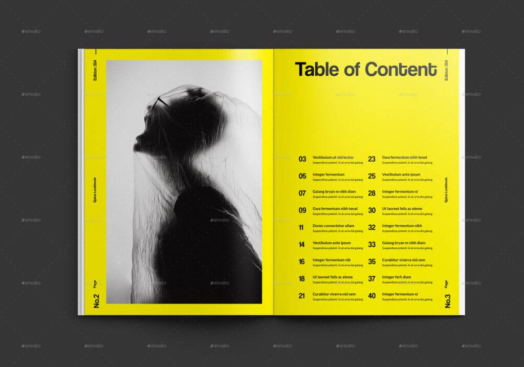 Spica Swiss Lookbook Catalogue Template