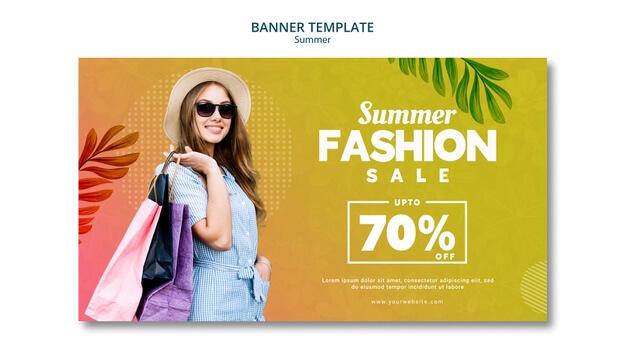 Summer sale 70% discount Free Psd