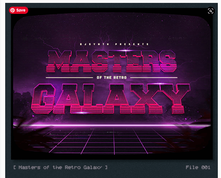 Synthwave 80s Retro Text Effects V3