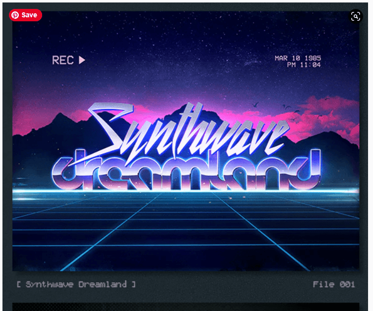 Synthwave 80s Retro Text Effects