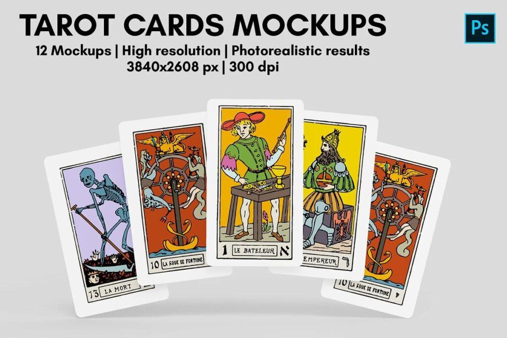 Tarot Cards Mockups - 12 Views