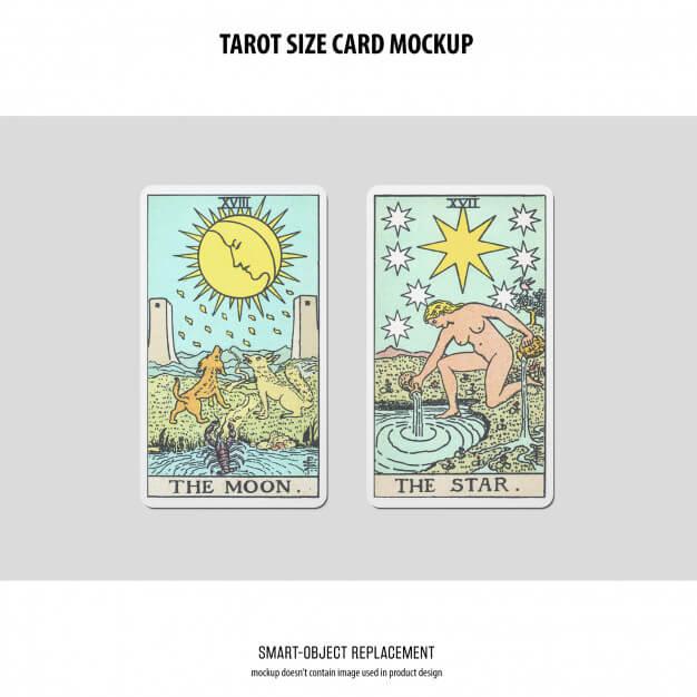 Tarot card mockup Free Psd2