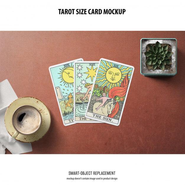 Tarot card mockup Free Psd3