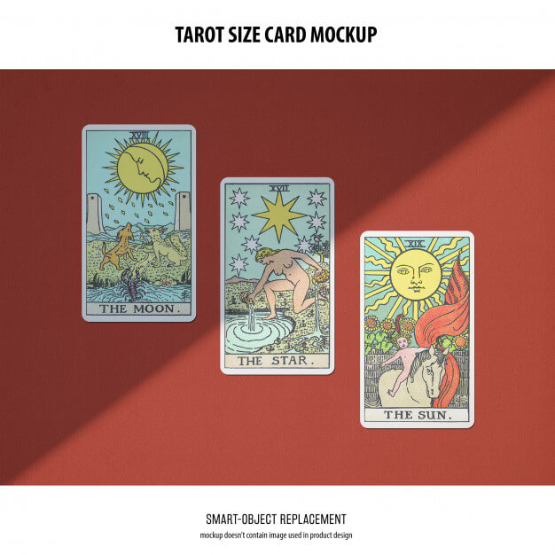 Tarot card mockup Free Psd5