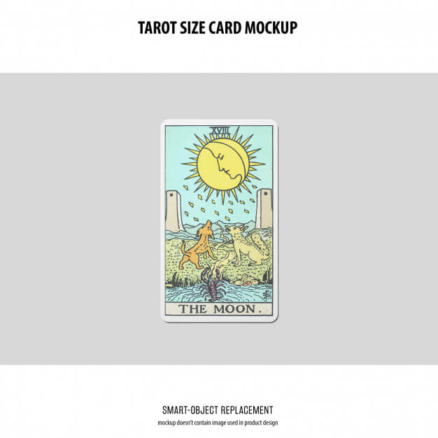 Tarot card mockup Free Psd6