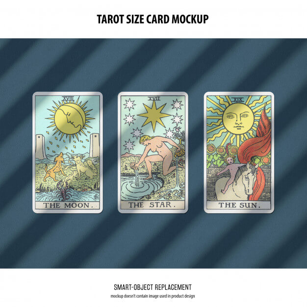 Tarot card mockup Free Psd7