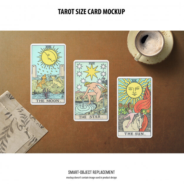 Tarot card mockup Free Psd8