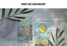 Tarot card mockup Free Psd9