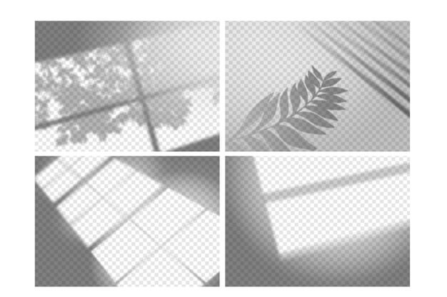 Transparent shadows overlay effect concept Free Vector