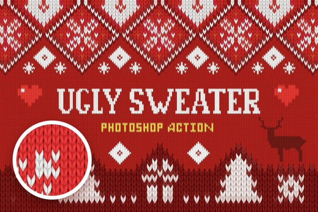 Ugly Christmas Sweater Action