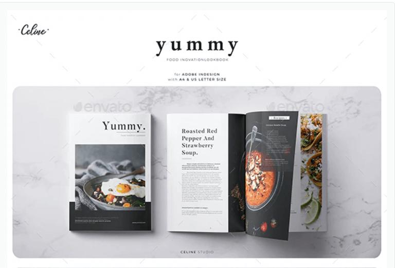 Yummy - Food Lookbook Template