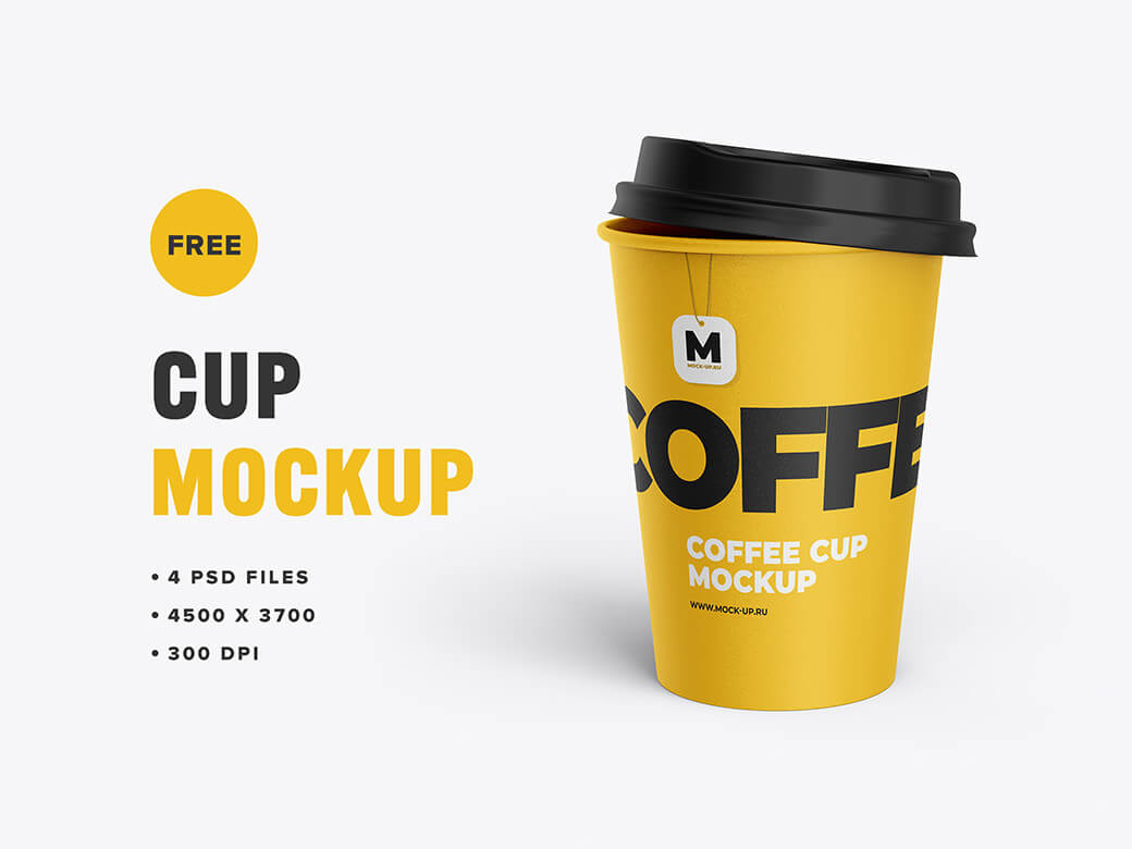 Free Shiny Tea And Coffee Cup Mockup PSD Template