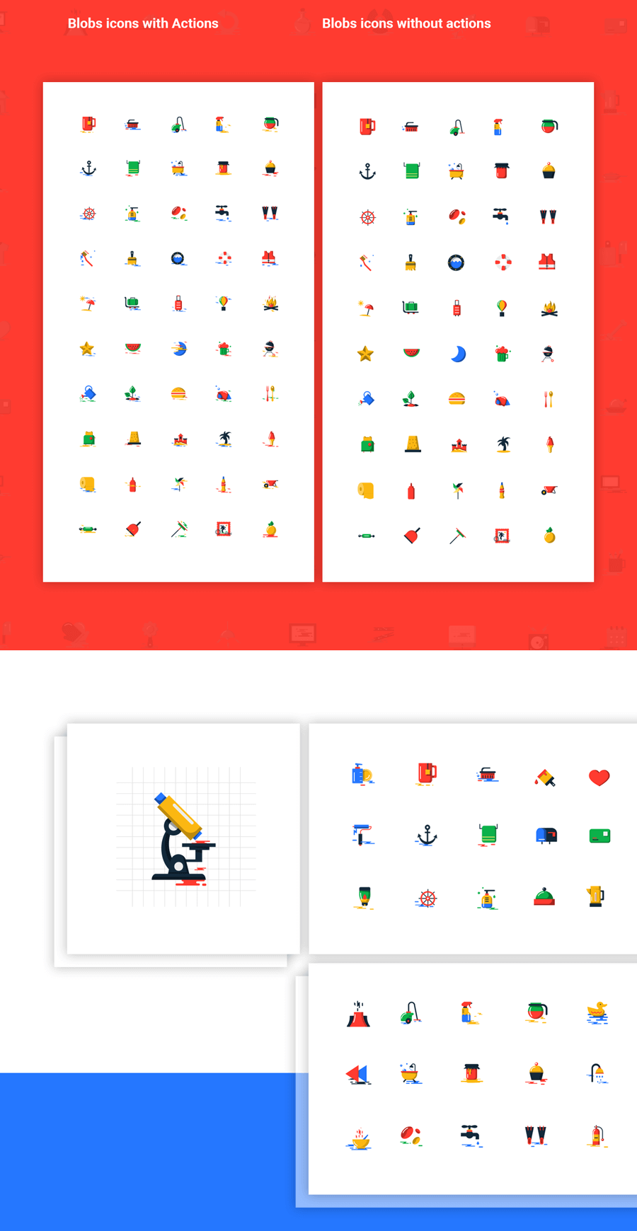 1000+ Blob Flat Icons In Two Styles3