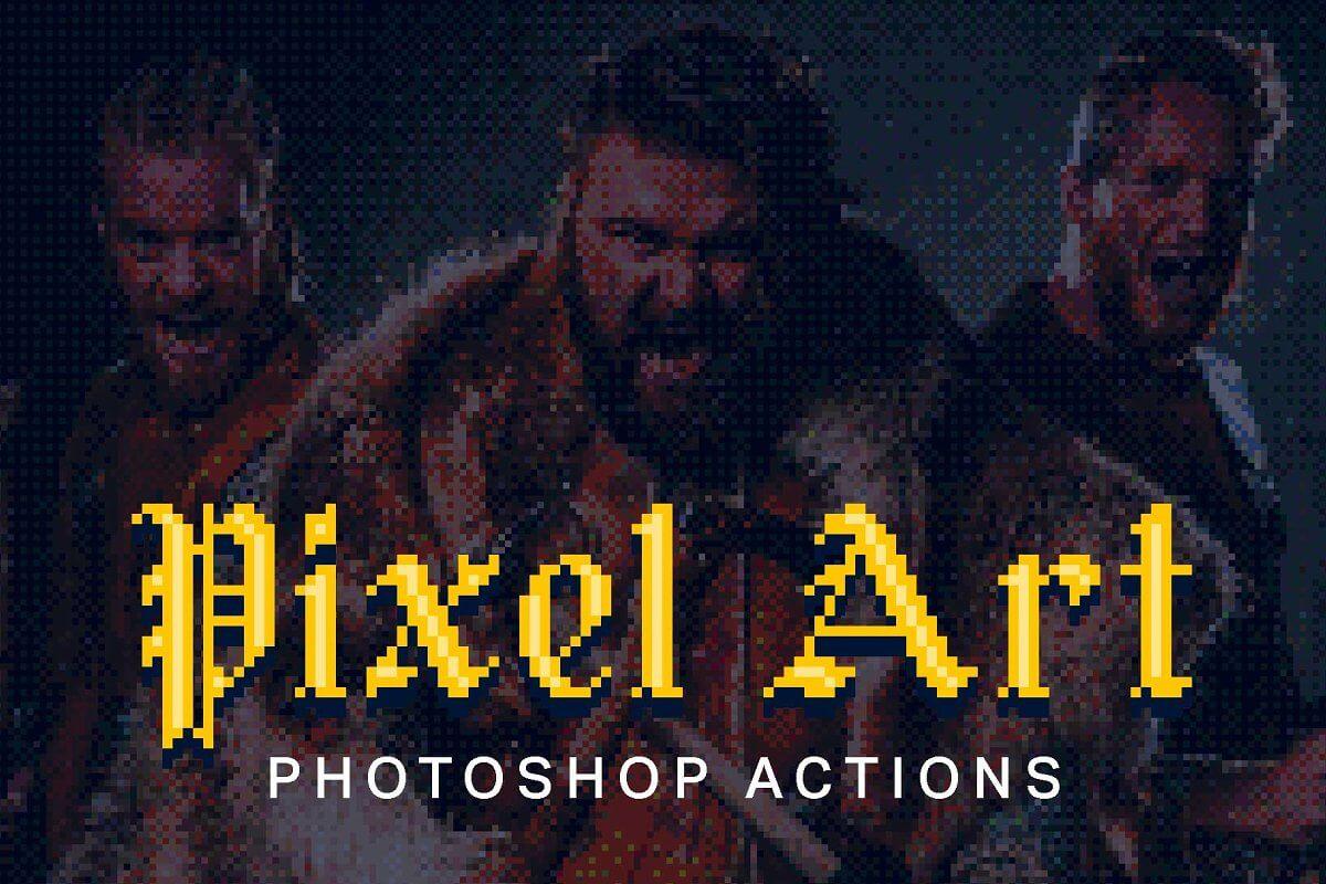 21 Pixel Art Photoshop Actions