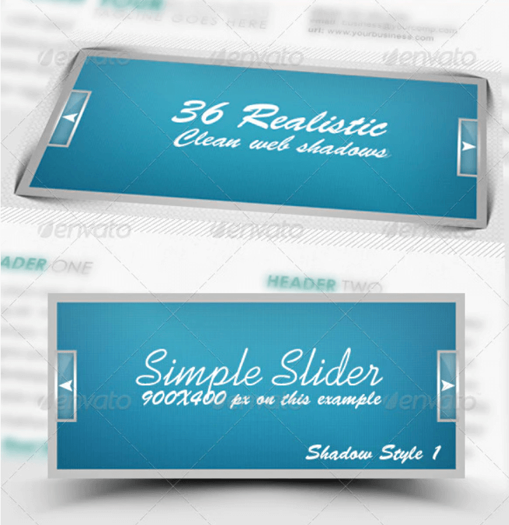 36 Realistic & Clean Web Shadows Pack