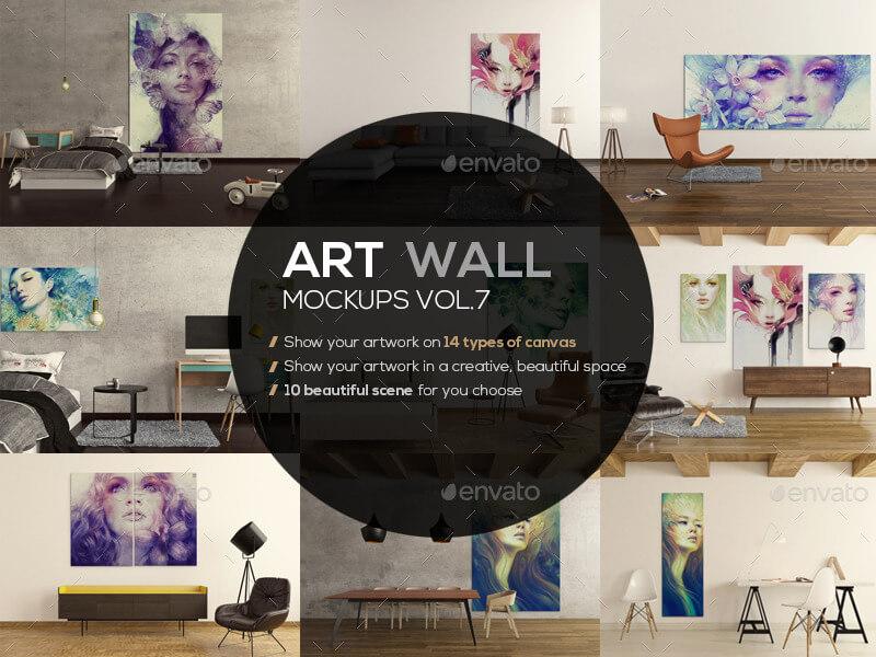 Art Wall Mockups Vol7