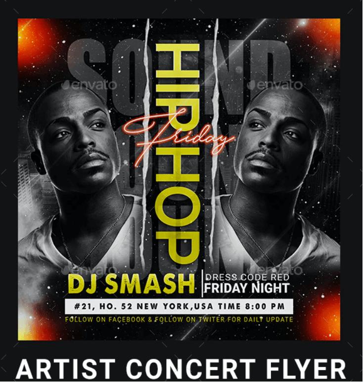 Artist Concert Flyer2