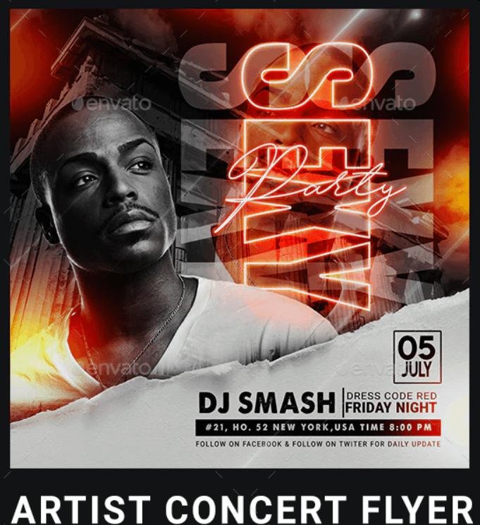 Artist Concert Flyer7