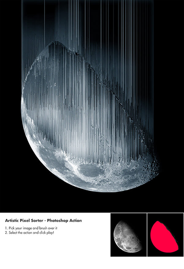 Artistic Pixel Sorter - Photoshop Actions