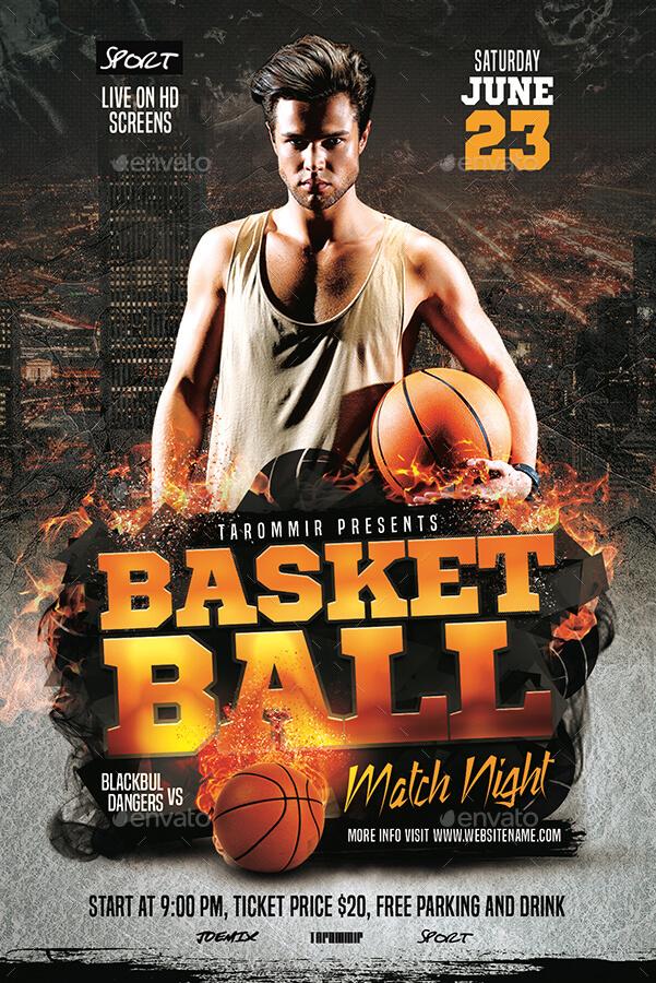 Basketball Match Night Flyer