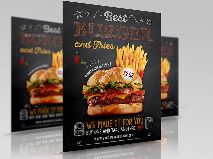 Burger Restaurant Flyer Template Vol.6