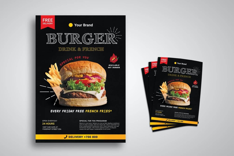 Burger Restaurant Promo Flyer