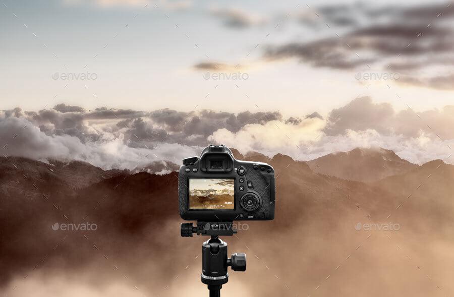 Camera on a Tripod Mock-up