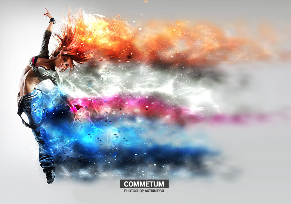 Cosmic Tail - Commetum - Photoshop Action
