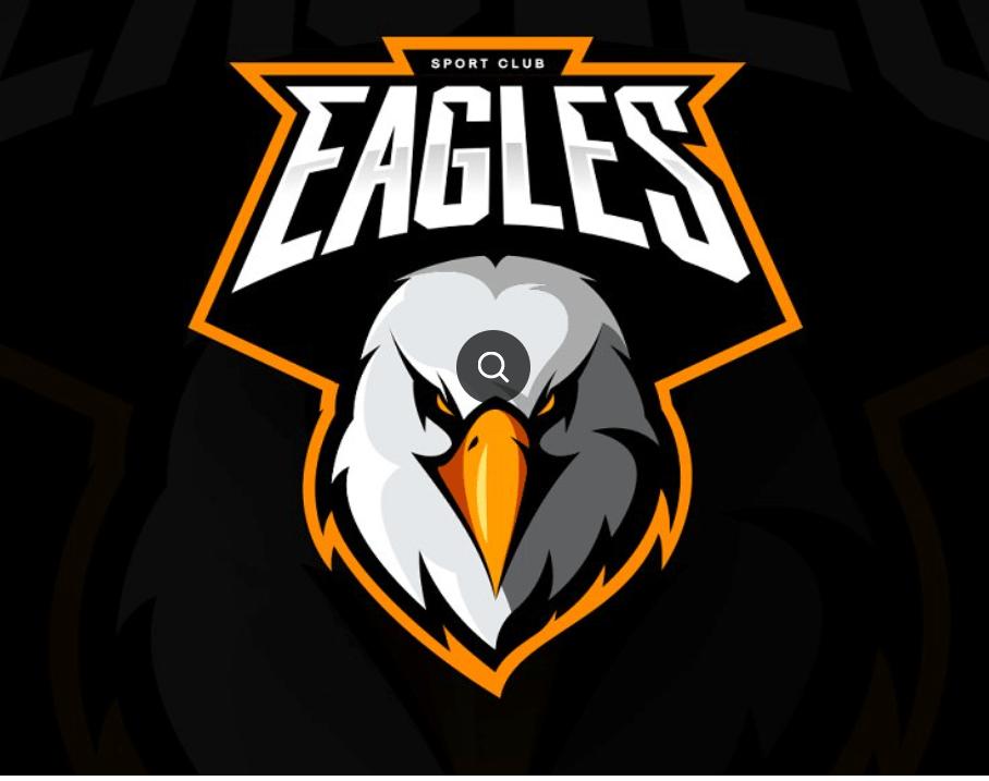 Eagle mascot sport logo design