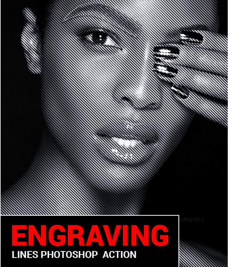 Engraving Lines Photoshop Actions