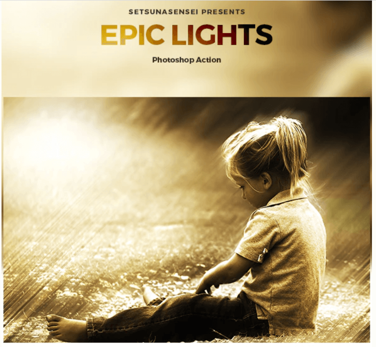 Epic Lights Photoshop Action