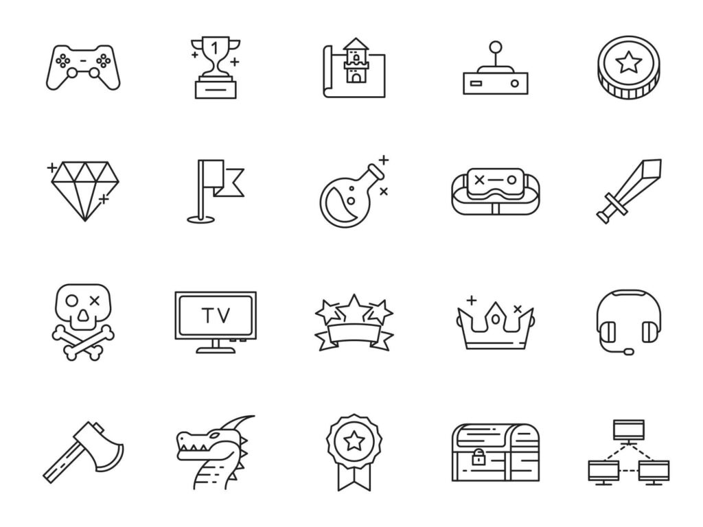 Free 20+ Gaming Vector Icons