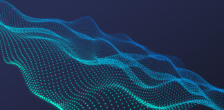 Free Abstract Wavy Particles Backgrounds Mockup PSD Template