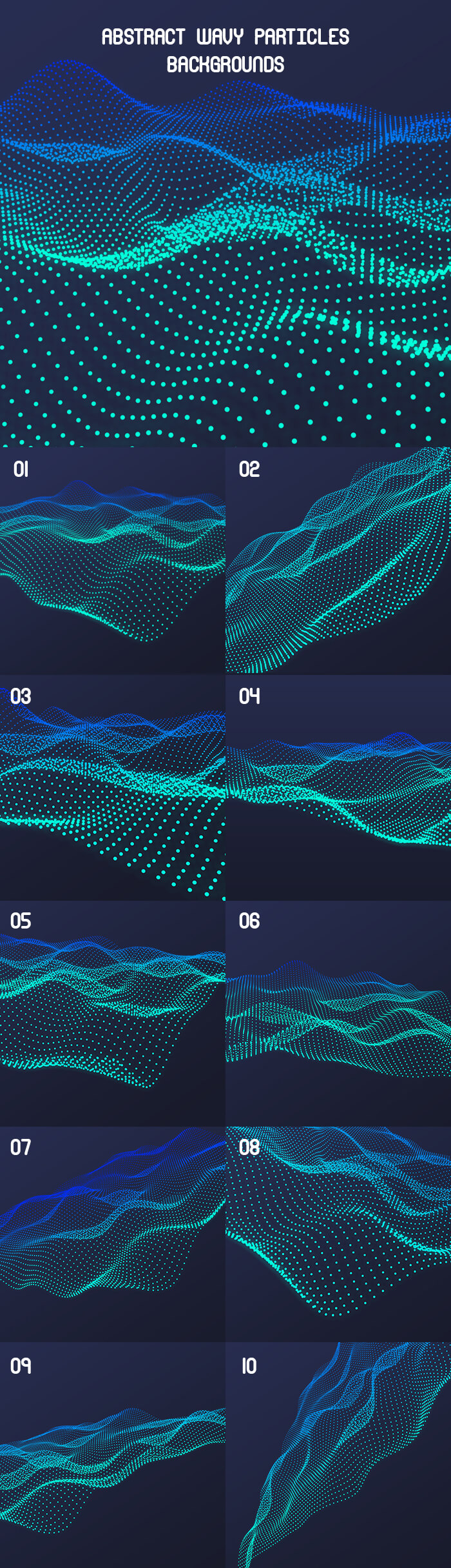 Free Abstract Wavy Particles Backgrounds Mockup PSD Template1