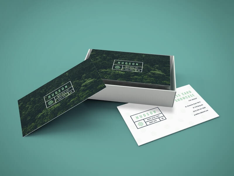 Free Awesome Business Cards Mockup PSD Template