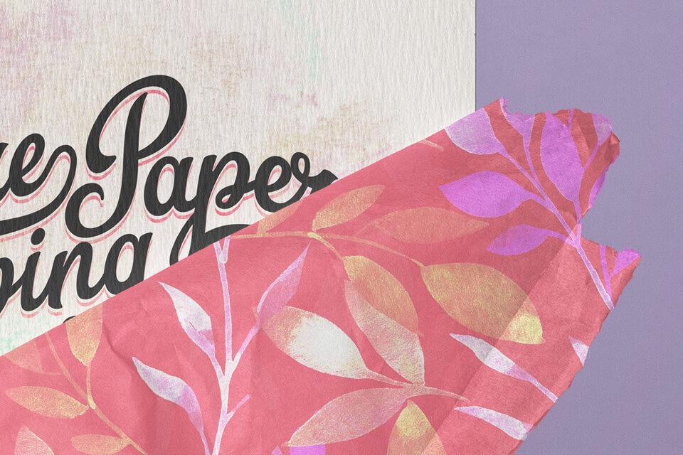 Free Beautiful Square Invitation Card Paper Wrap Mockup PSD Template1